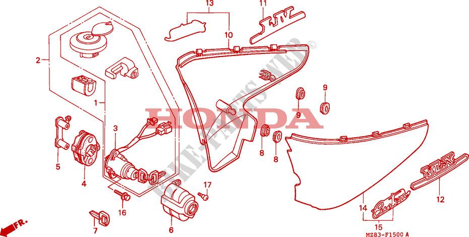 STEED 400 NV400CS 1995 SINGAPORE NV400CS Genuine Honda Spare Parts on Honda Spare Parts Singapore