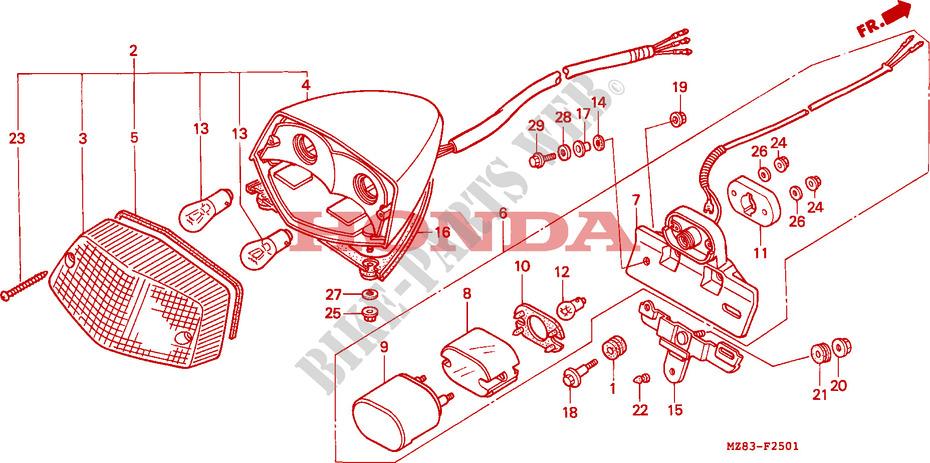 TAILLIGHT  NV400C600C  for    Honda       STEED       400    1995      HONDA