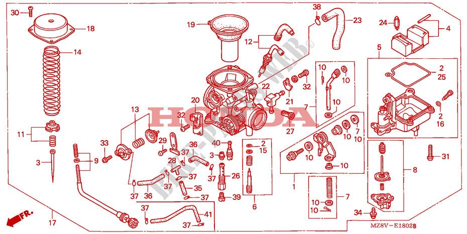 Carburetor Single Engine Vt600cw 1998 Vt 600 Moto Honda Motorcycle