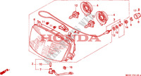 HEADLIGHT Frame 1100 honda-motorcycle PAN-EUROPEAN 1996 F__0100