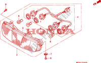 REAR COMBINATION LIGHT Frame 1100 honda-motorcycle PAN-EUROPEAN 1993 F__2900