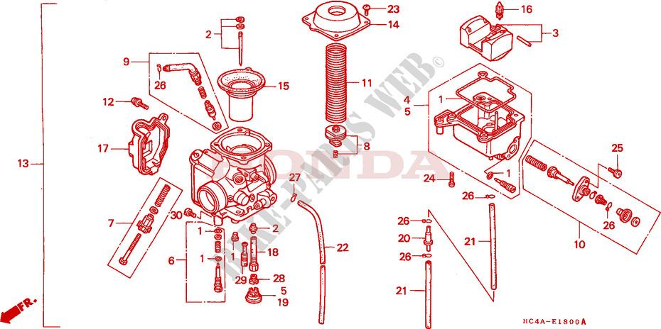 Carburetor For Honda Trx300 300 Fourtrax  Carb 16100-HM5-730