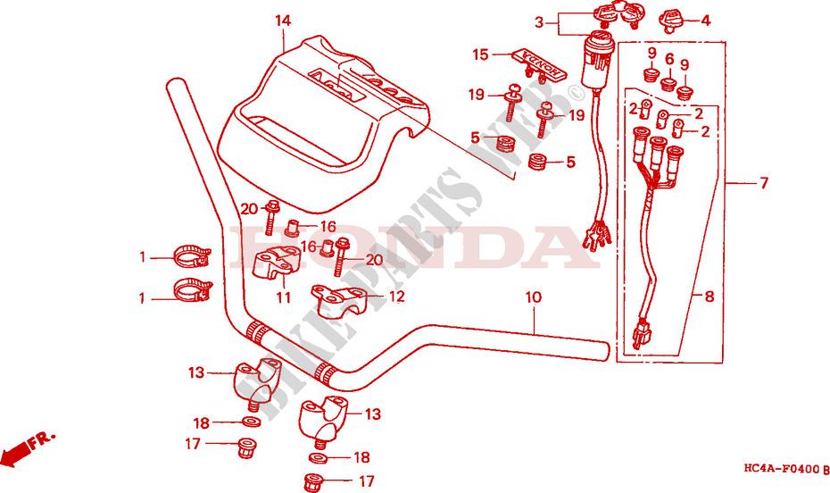 Handlebar For Honda Trx 300 Fourtrax 4x4 1994   Honda