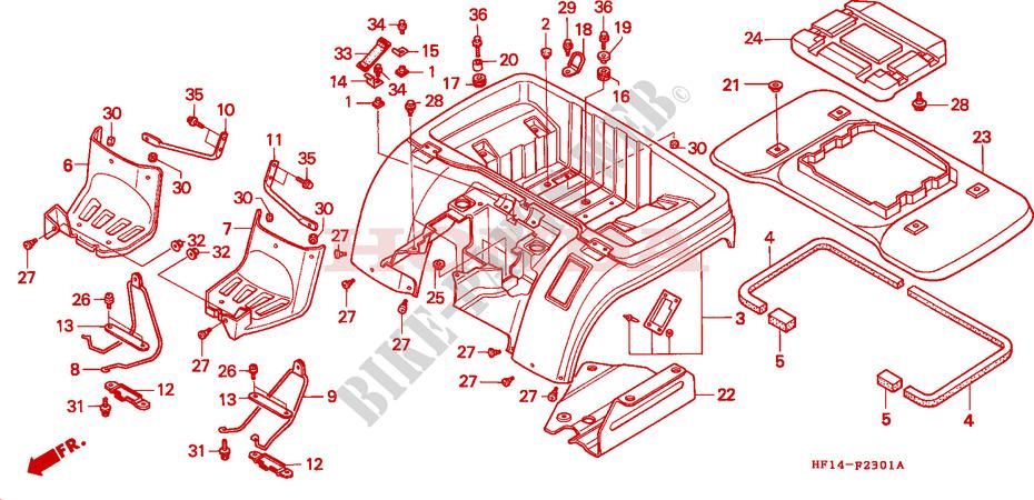 2301 honda h engine diagram rear fender  trx200d  for honda trx 200 fourtrax d 1994 honda  rear fender  trx200d  for honda trx 200