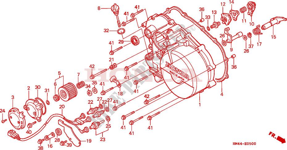 right crankcase cover engine trx300fww 1998 fourtrax 300 atv honda rh bike parts honda com