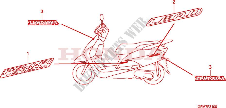 Mark For Honda Lead 110 2008   Honda Motorcycles  U0026 Atvs