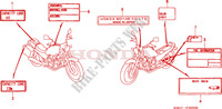 CAUTION LABEL Frame 250 honda-motorcycle CB 2006 F__3000