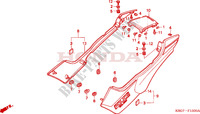 SIDE COVER Frame 250 honda-motorcycle CB 2006 F__1500