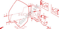 WINDSHIELD Frame 250 honda-motorcycle CB 2006 F__3800