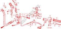 HANDLE LEVER/SWITCH/CABLE Honda motorcycle microfiche diagram XL125VB 2011 125 VARADERO