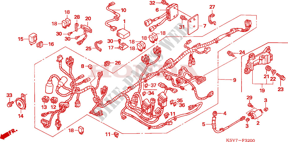 Wire Harness For Honda Forza 250 X 2007   Honda