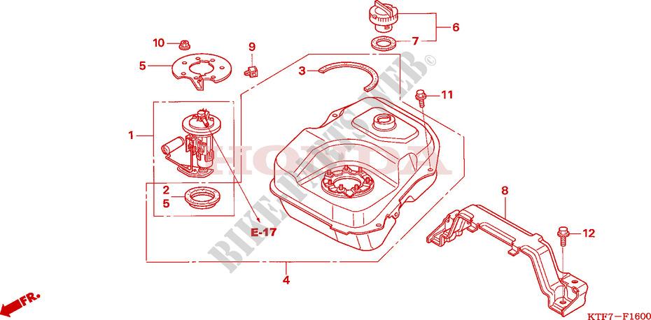 Fuel Tank For Honda Sh 125 Injection 2006   Honda Motorcycles  U0026 Atvs Genuine Spare Parts Catalog