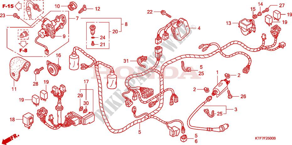 Wire Harness For Honda Sh 125 2007   Honda Motorcycles  U0026 Atvs Genuine Spare Parts Catalog