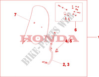 WINDSHIELD WITHOUT KNUCKLE VISOR Honda motorcycle microfiche diagram SH300A 2010 SH 300