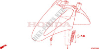 FRONT FENDER Honda motorcycle microfiche diagram SH300A 2010 SH 300