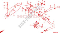 AIR INJECTION VALVE Honda motorcycle microfiche diagram SH300A 2010 SH 300