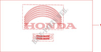 KIT WHEEL STICKER Honda motorcycle microfiche diagram CBF125MA 2010 CBF 125