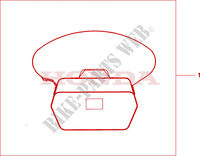 BODY COVER L Honda motorcycle microfiche diagram CBF125MA 2010 CBF 125
