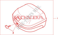TOP BOX 26L Honda motorcycle microfiche diagram CBF125MA 2010 CBF 125
