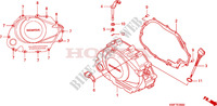 RIGHT CRANKCASE COVER Honda motorcycle microfiche diagram CBF125MA 2010 CBF 125