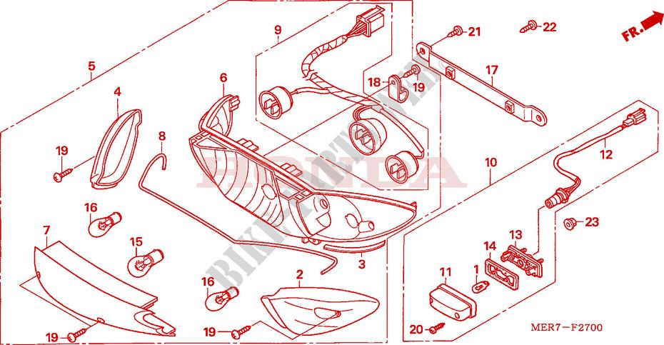 New Front Brake Light Switch Honda CBF 600 SA ABS 2008