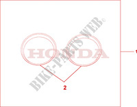 METER RING Honda motorcycle microfiche diagram CBF500A4 2005 CBF 500 ABS