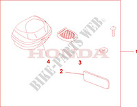 TOP BOX 35L Honda motorcycle microfiche diagram CBF500A4 2005 CBF 500 ABS