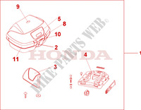 TOP BOX 45L Honda motorcycle microfiche diagram CBF500A4 2005 CBF 500 ABS