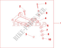 CARRIER BRACKET Honda motorcycle microfiche diagram CBF500A4 2005 CBF 500 ABS