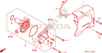 WATER PUMP Honda motorcycle microfiche diagram CBF500A4 2005 CBF 500 ABS