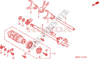 GEARSHIFT DRUM Honda motorcycle microfiche diagram CBF500A4 2005 CBF 500 ABS
