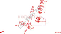 STEERING STEM Honda motorcycle microfiche diagram CBF500A4 2005 CBF 500 ABS
