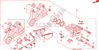 REAR BRAKE CALIPER Honda motorcycle microfiche diagram CBF500A4 2005 CBF 500 ABS