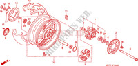 REAR WHEEL Honda motorcycle microfiche diagram CBF500A4 2005 CBF 500 ABS