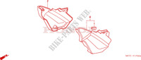 SIDE COVER Honda motorcycle microfiche diagram CBF500A4 2005 CBF 500 ABS