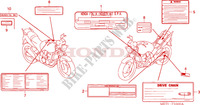 CAUTION LABEL Honda motorcycle microfiche diagram CBF500A4 2005 CBF 500 ABS
