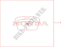 MAGNETIC TANK BAG Honda motorcycle microfiche diagram NT700VA 2010 DEAUVILLE 700