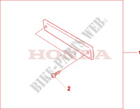 PILLION BACKREST PAD Honda motorcycle microfiche diagram NT700VA 2010 DEAUVILLE 700