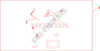KNUCKLE DEFLECTOR SET Honda motorcycle microfiche diagram NT700VA 2010 DEAUVILLE 700