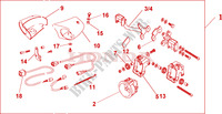 FRONT FOG LIGHT SET Honda motorcycle microfiche diagram NT700VA 2010 DEAUVILLE 700