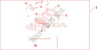 REAR FOG LIGHT SET Honda motorcycle microfiche diagram NT700VA 2010 DEAUVILLE 700