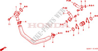 WATER PIPE Honda motorcycle microfiche diagram NT700VA 2010 DEAUVILLE 700