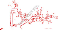 HANDLE LEVER/SWITCH/CABLE Honda motorcycle microfiche diagram NT700VA 2010 DEAUVILLE 700