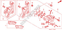 REAR BRAKE CALIPER Honda motorcycle microfiche diagram NT700VA 2010 DEAUVILLE 700