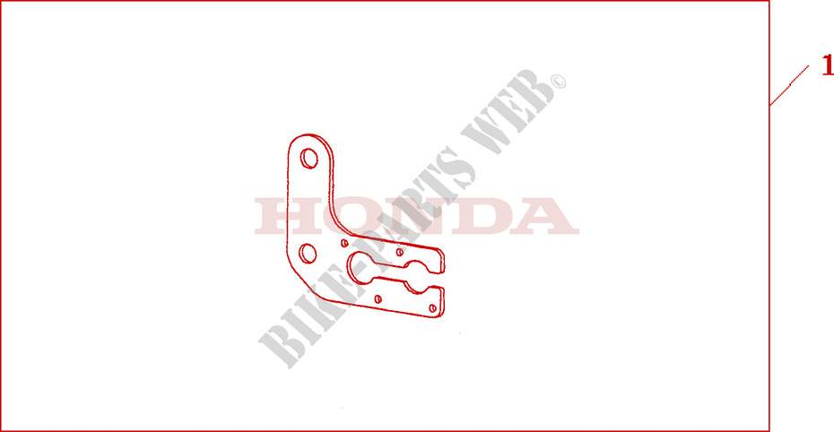 Bracket Double Sw Accessories Nt700va7 2007 Deauville 700 Moto Honda