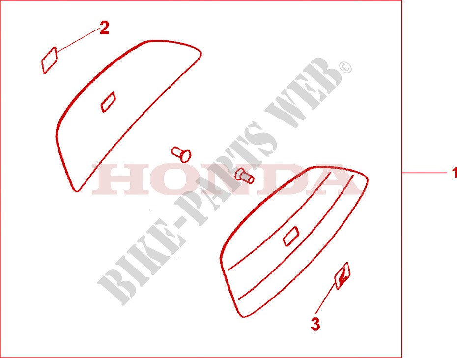 colour panel set quasar silver met accessories cbf1000a8 2009 cbf rh bike parts honda com