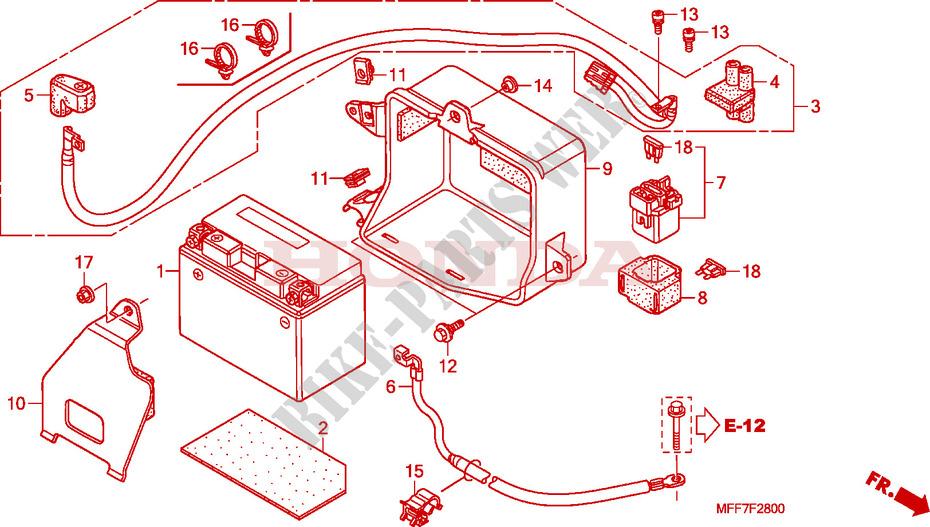 Battery - Transalp 700 Abs Xl700va8 2008 Europe