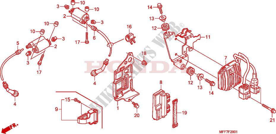 Ignition Coil For Honda Transalp 700 2008   Honda