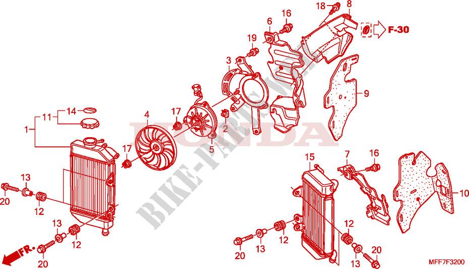 Radiator For Honda Transalp 700 Abs Gray 2009   Honda