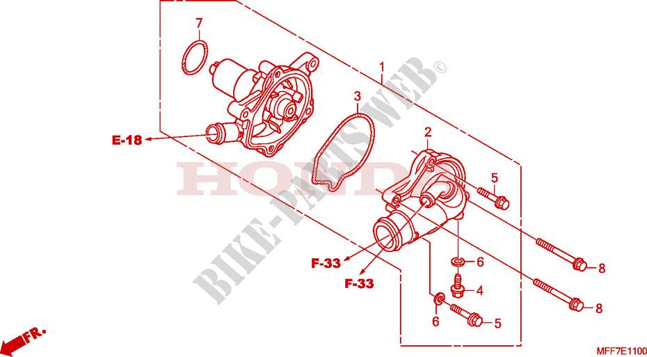 Excellent Water Pump Engine Xl700V9 2009 Transalp 700 Moto Honda Motorcycle Wiring 101 Ferenstreekradiomeanderfmnl